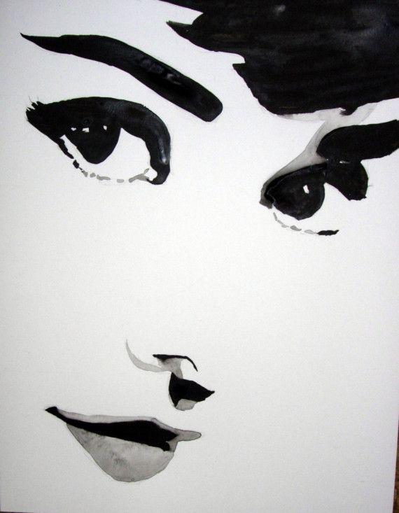 Audrey Hepburn Pop Art Painting por teresamarkos en Etsy