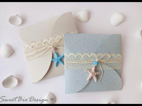 Tuto: Partecipazioni di Nozze tema Marino - Wedding invitations Marine Style - YouTube