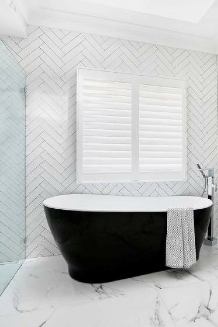 Black And White Bathroom Wall Tiles