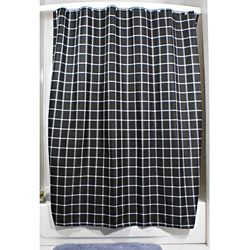 Lincoln Black Grid Shower Curtain | Overstock.com Shopping - Great Deals on Shower Curtains