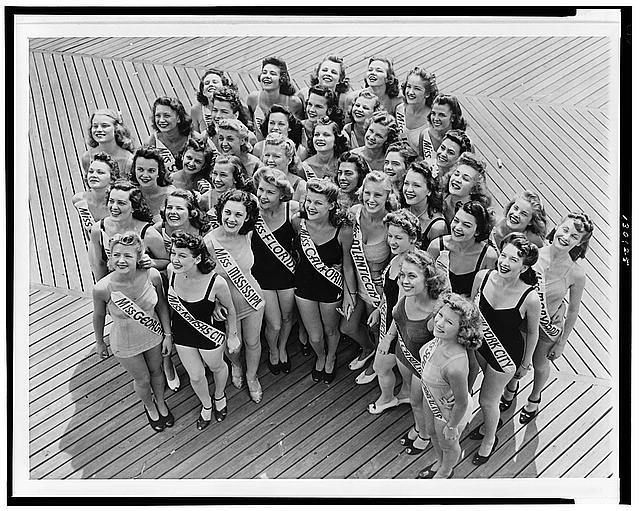 Miss America Beauty Pageant Contestants,Boardwalk,Atlantic City,New Jersey,1941