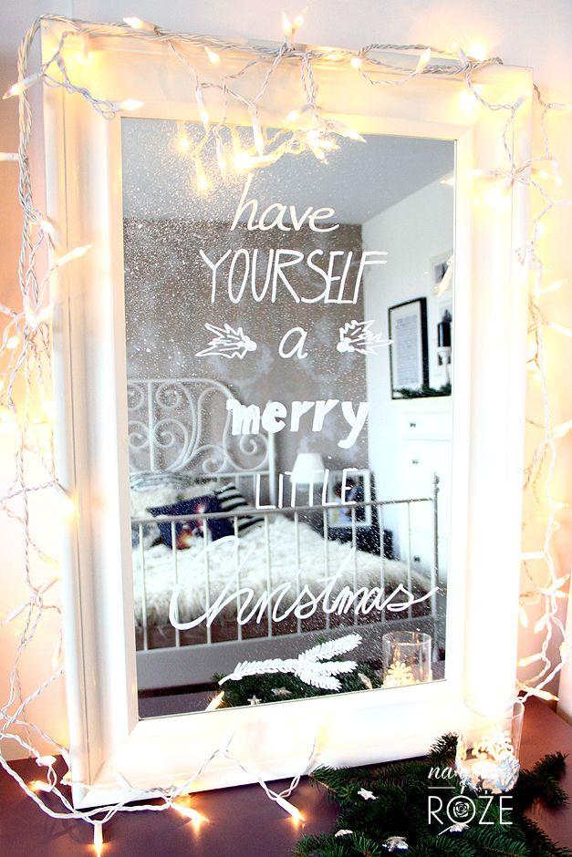 Lustro w świątecznej odsłonie #christmas #bożenarodzenie #święta #lustro #zima #diy
