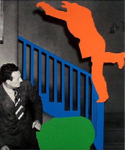 John Anthony Baldessari - Two Figures: One Leaping; One Reacting