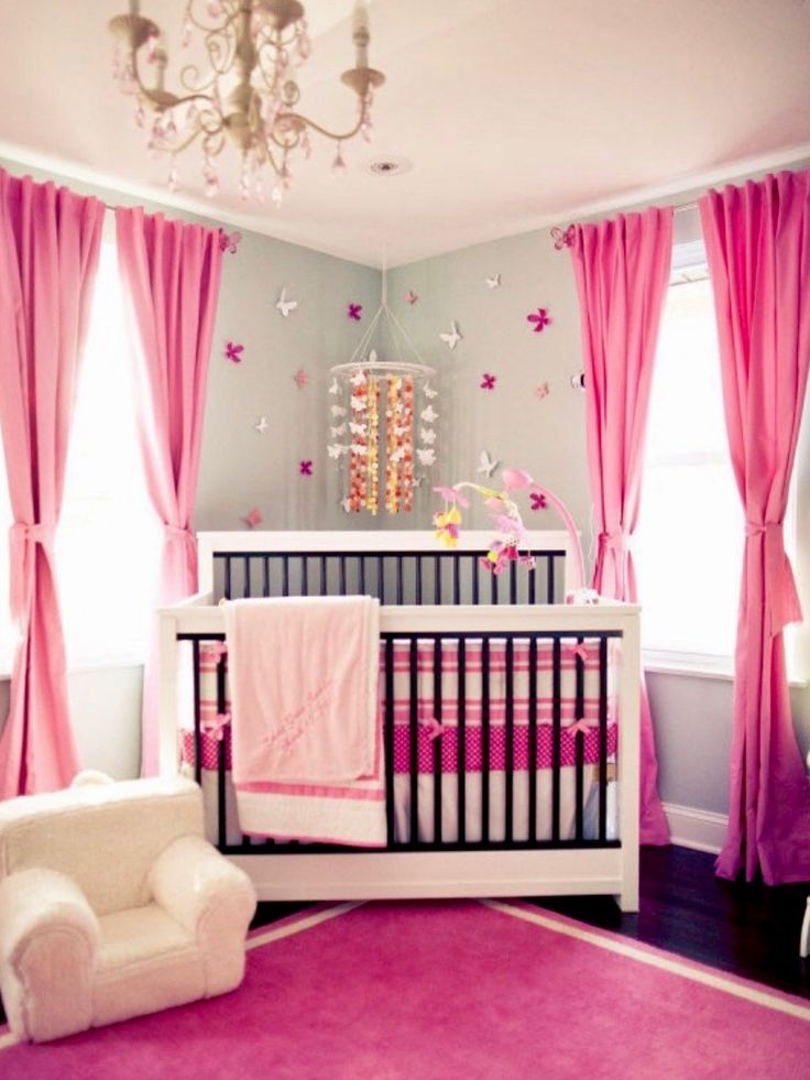 32 baby girl nursery designs popular on pinterest. Interior Design Ideas. Home Design Ideas