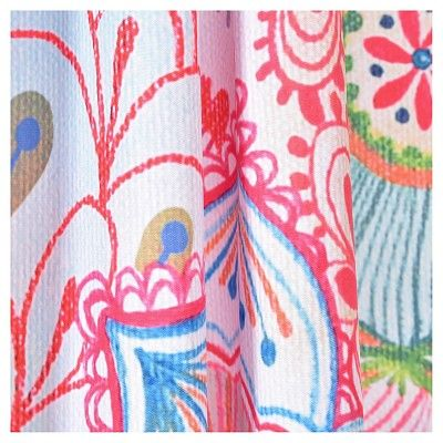 "Stephanie Corfee Corfee Frolic in Pink Shower Curtain by (71""x74"") - Deny Designs, Multicolored Pink"