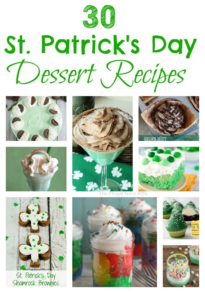 30 St. Patrick's Day Dessert Recipes - The Frugal Navy Wife