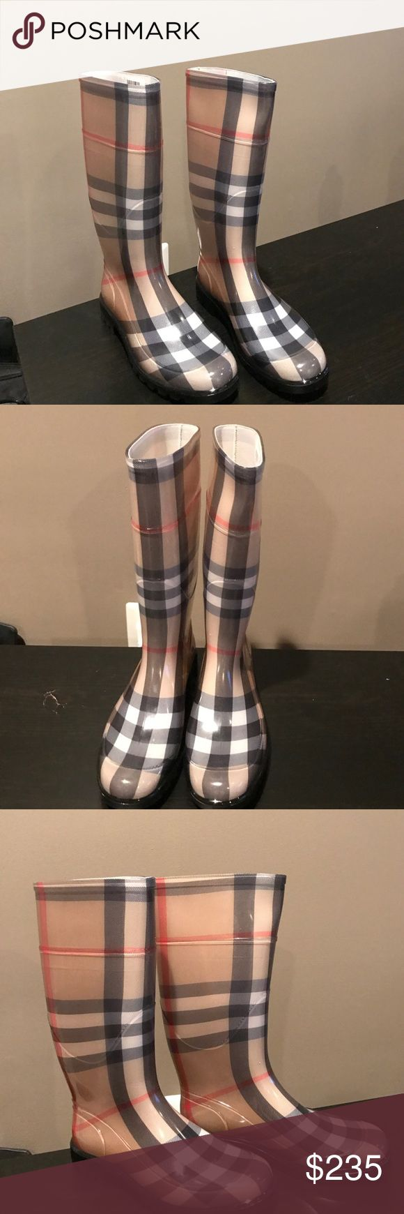 Rain boots Burberry rain boots, brand new. Never worn. Burberry Shoes Winter & Rain Boots