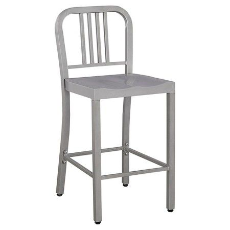 Low Back 24 Quot Counter Stool Metal Silver Ace Bayou