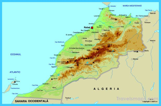 cool Map of Morocco