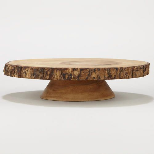 One of my favorite discoveries at WorldMarket.com: Wood Bark Pedestal Stand