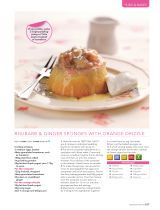 Rhubarb and ginger sponges with orange drizzle (low fat recipe with canderel) - Recipe Collection: Healthy Food Guide - 2016-07-16 : Page 107