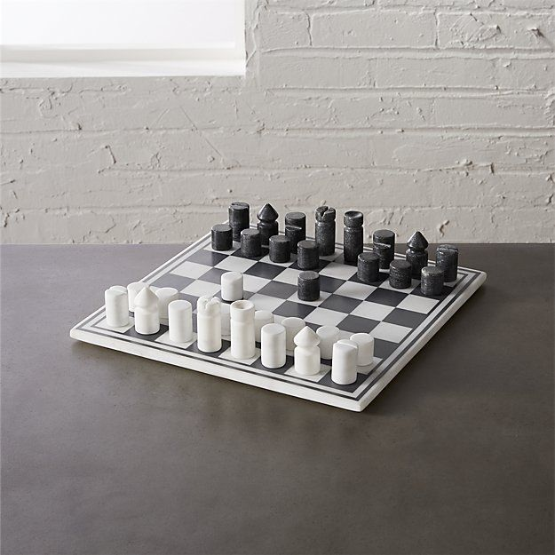 marble chess game | CB2