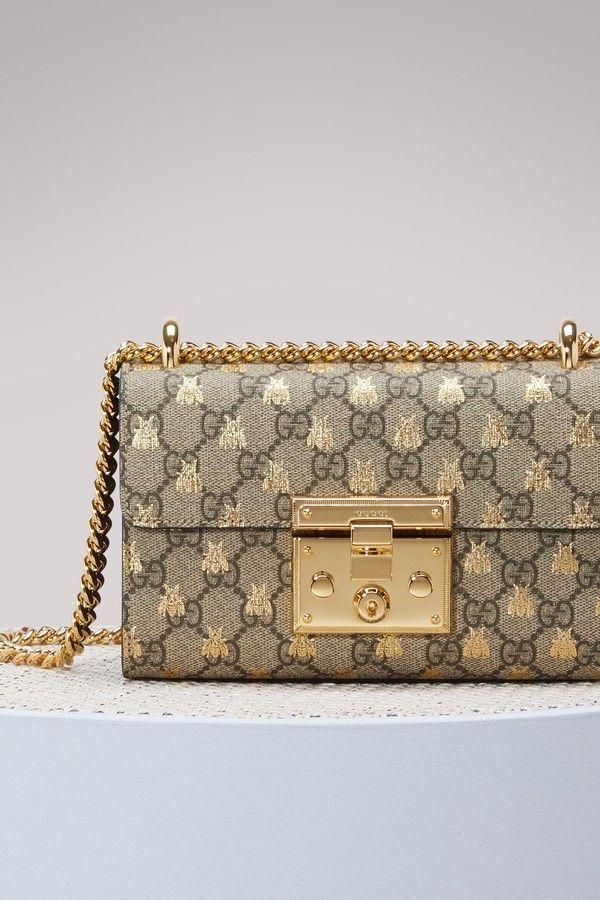 c9821aa8cc4af2 Gucci Padlock GG Supreme bees shoulder bag | Bag in 2019 | Gucci ...