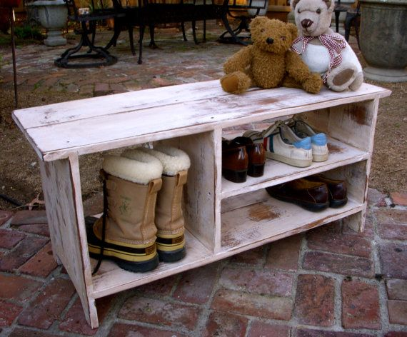 Handmade Wood, Wooden Shoe Bench - Entryway - Hall - Shoe Storage IMPORTANT *** Please specify your COLOR choice at time of check out, see below