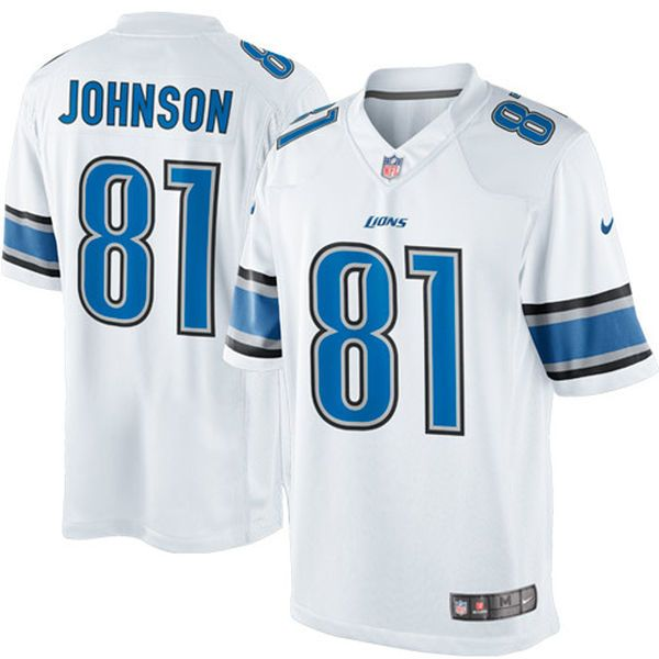mens detroit lions calvin johnson nike light blue team color limited jersey