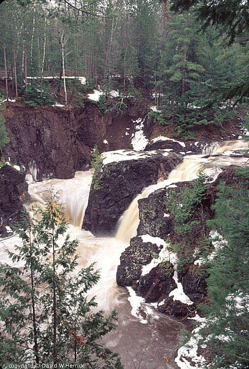 Copper Falls, Ashland County.  Way up north. Best State Park.