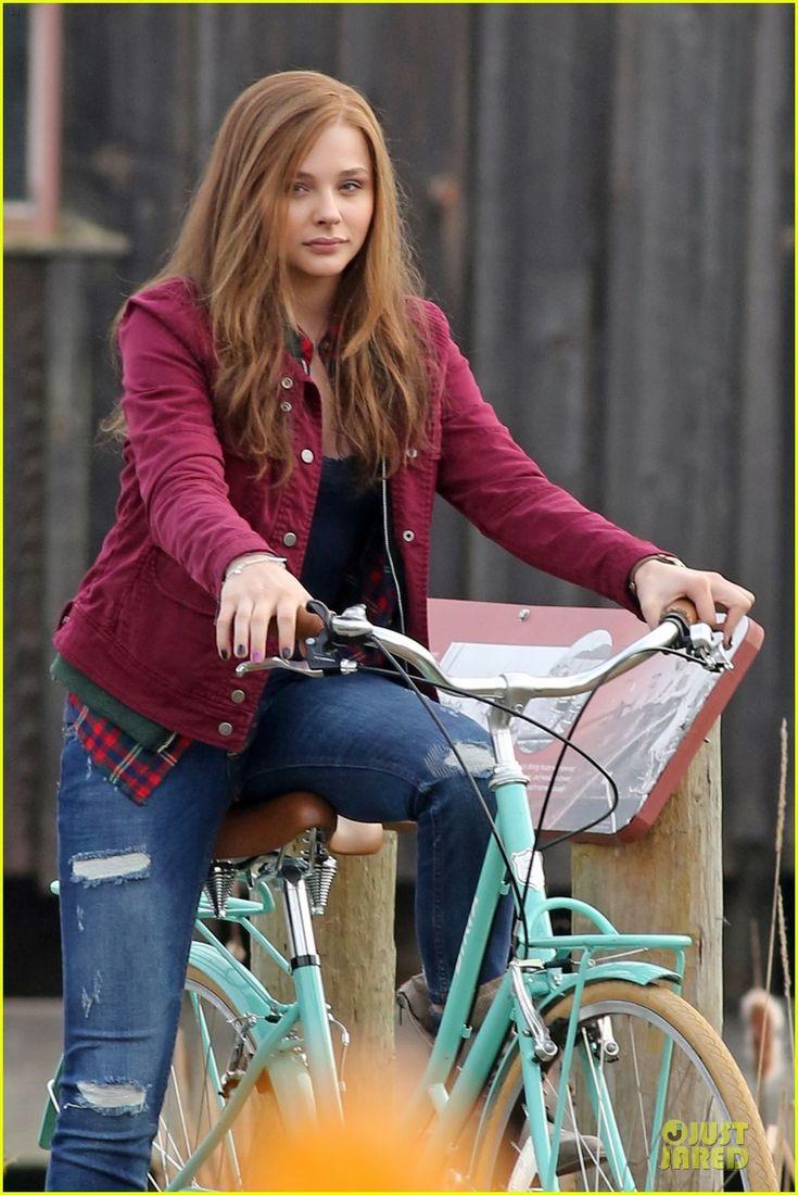 Chloe Moretz: Post Thanksgiving Bike Rider for 'If I Stay ...