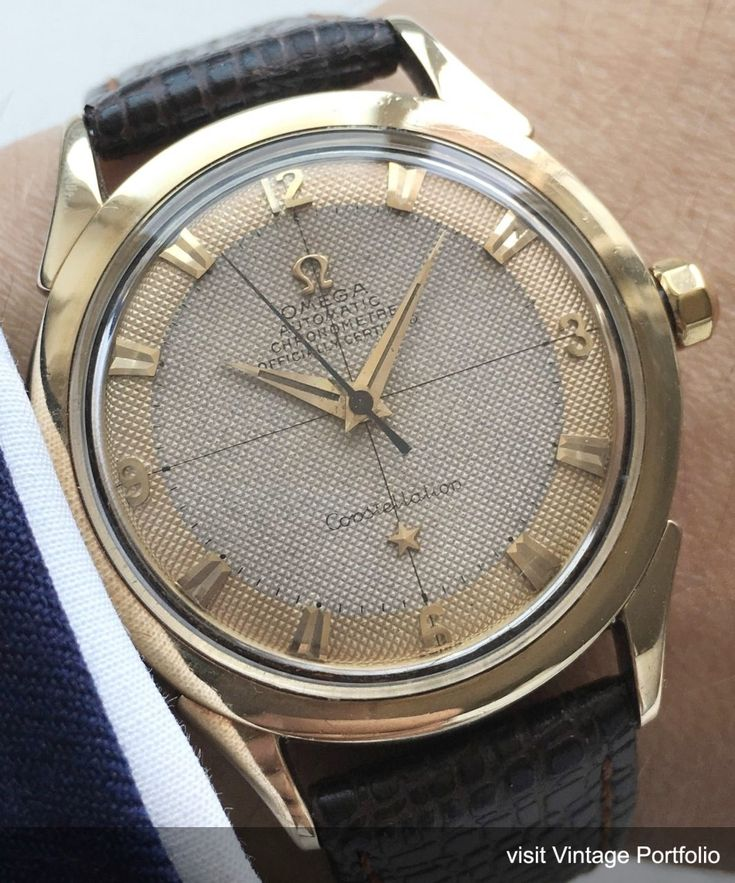 Investment Grade Omega Constellation Automatic Honeycomb dial