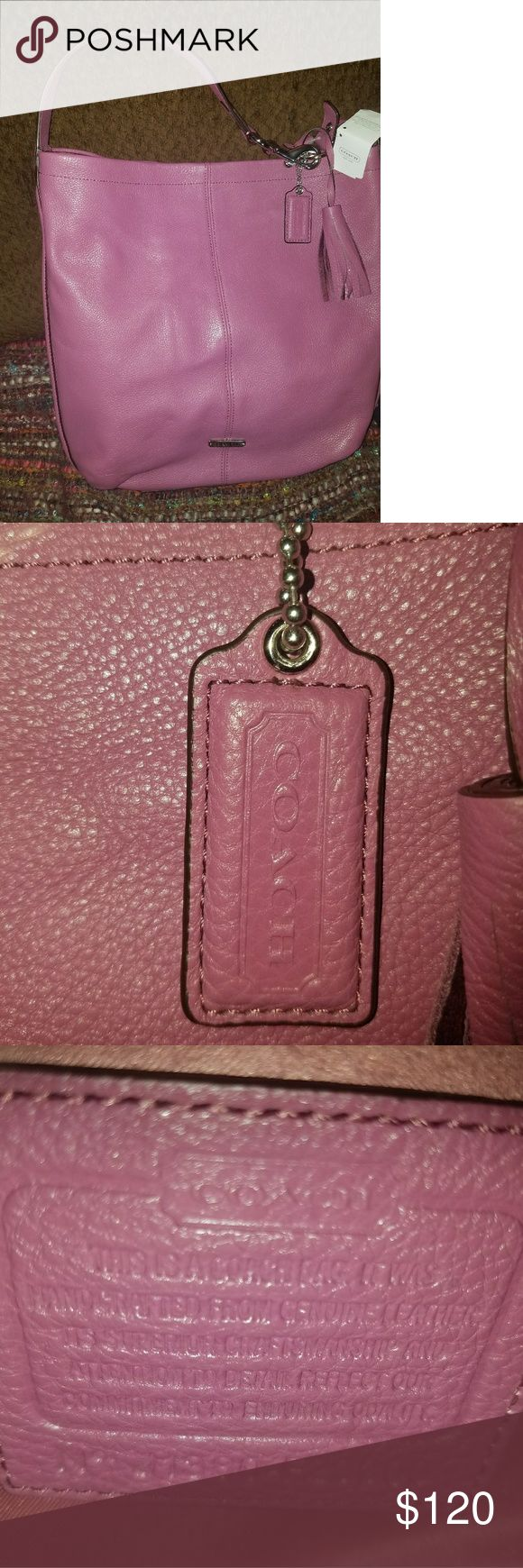Coach Rose Pebbled Leather Hobo Coach Rose Pebbled Leather Hobo, BNWT still attached, 13L x14H x4W Coach Bags Hobos