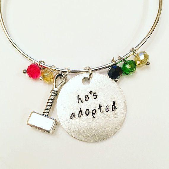 He's Adopted (adjustable bangle) - #Thor #Loki #marvel #tomhiddleston #chrishemsworth