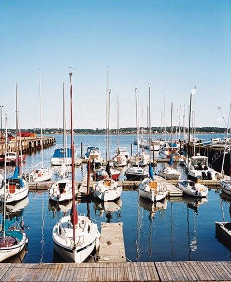 The popular marina in Charlottetown, on Prince Edward Island.