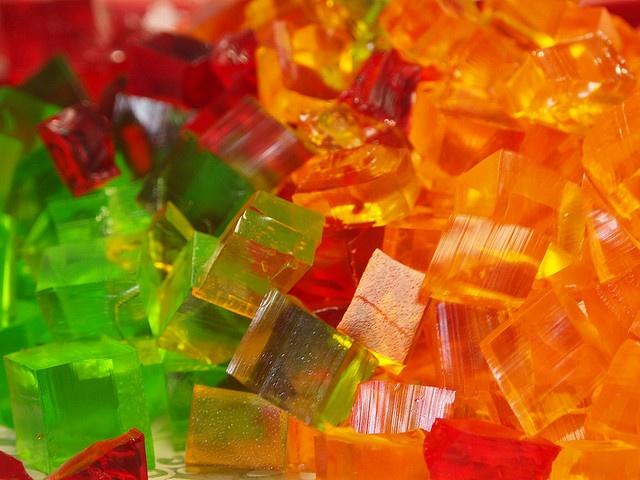 Jello cubes.