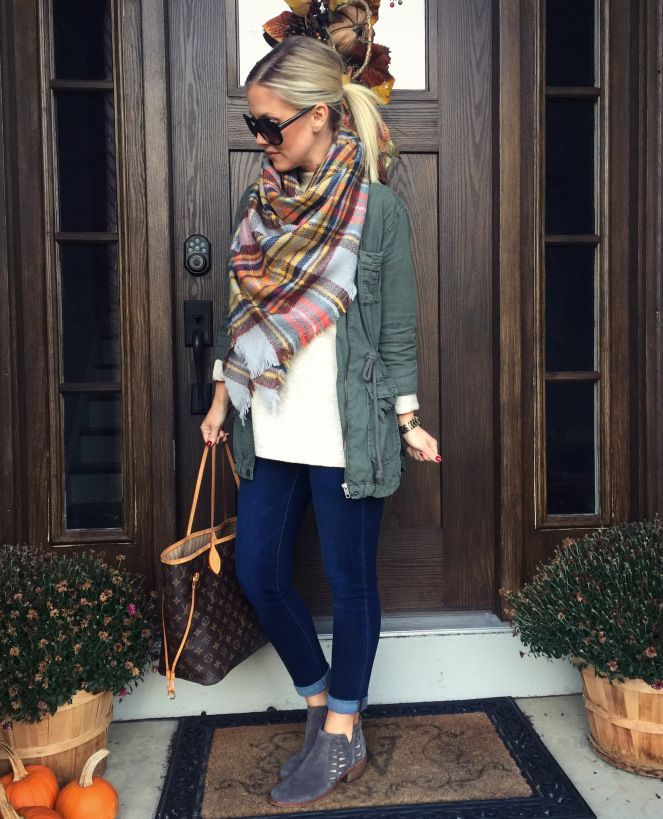 Shop – The Styled Duo  Style Blogger || Cargo Jacket || Blanket Scarf SALE || Coupon Code || Booties
