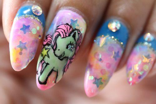 #pony #nails #nailart