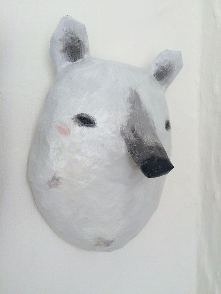 Как сделать из папье маше голову медведя 141