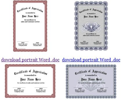 123Certificates.com - Template Sertifikat