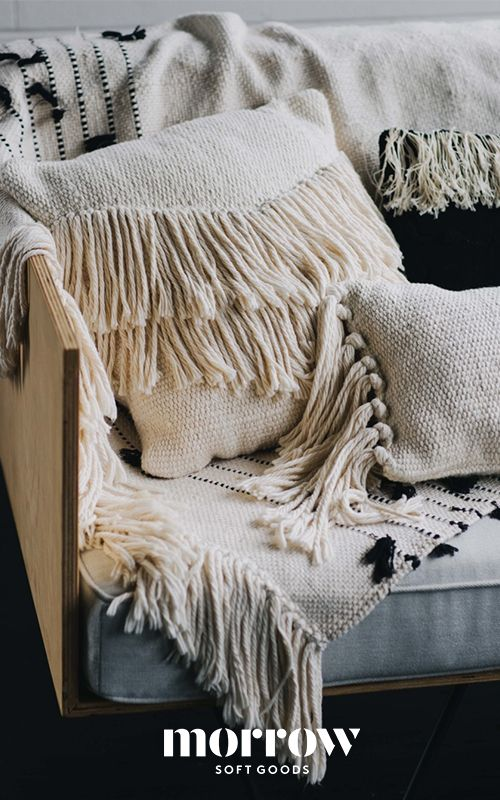 MORROW | Our Raw Cotton Collection is custom designed and handwoven by single artisans in Central Mexico. Our throw pillows, and blankets highlight the beauty of these natural fibers. Based in Los Angeles, Morrow Soft Goods designs, manufactures and sells specialty premium home textiles for the most discerning customer.