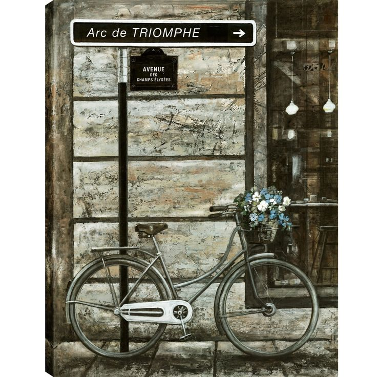 Hobbitholeco 30X40 Antique Bicycle, Printed gel coated wall art