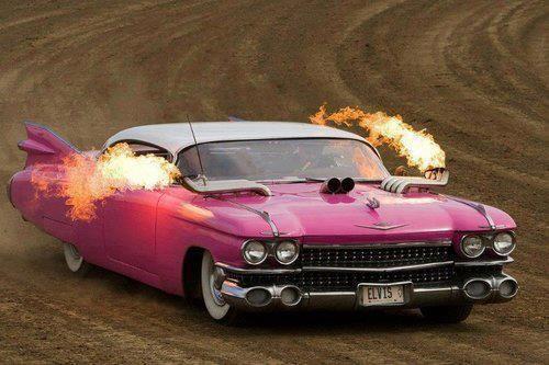 Commuter Headaches: Pink Caddy on fire