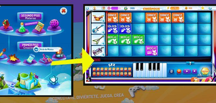 Con el Creamúsica puedes hacer tus propias canciones para que tus amigos la bailen en el simulador de baile!