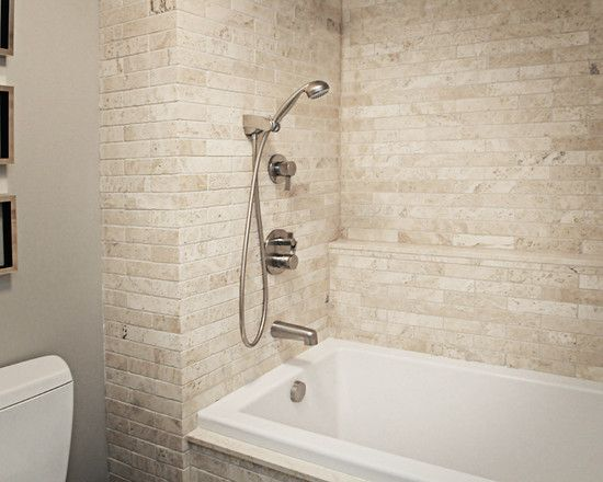 56 best bath ideas images on pinterest bathtub ideas for Neutral bathroom tile designs