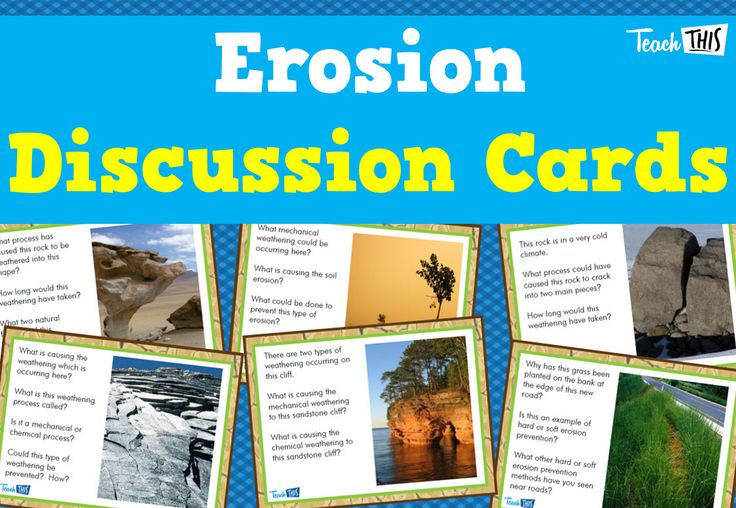 Erosion Discussion Cards - Set of 24