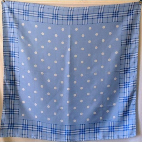 foulard carré en twill de soie burberry made in Italy, tuch, sciarpa, tartan, check
