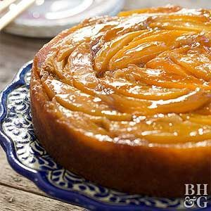 For a tropical twist on pineapple upside-down cake try sliced mango.