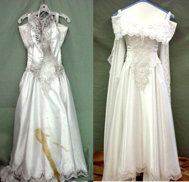 Everything You Need To Know About Dry Cleaning Your Wedding Dress After The Wedding In 2020 Wedding Dresses Old Wedding Dresses Delicate Wedding Dress