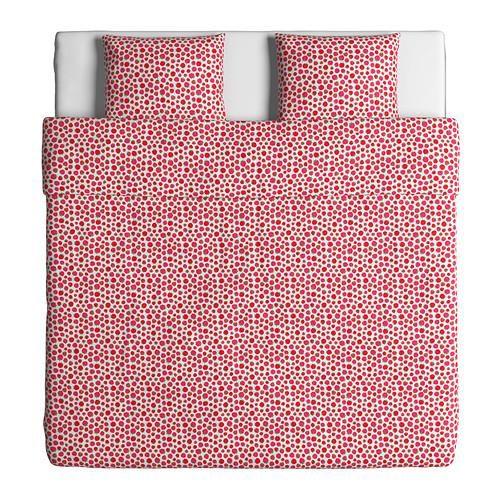 SOMMAR 2015 Παπλ/θήκη και 2 μαξ/θήκες μοτίβο βατόμουρου ροζ - IKEA