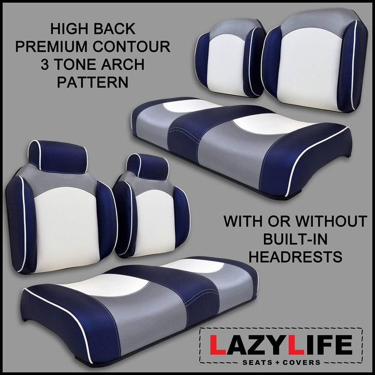 "17 Likes, 3 Comments - Lazy Life Seats & Covers (@lazylifeseat) on Instagram: ""Custom golf cart seating options...Premium Contour High Back Seat with or without built-in…"""