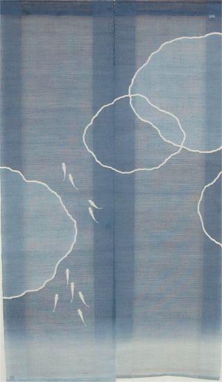 Japanese Noren Curtain-Medaka Rice Fish