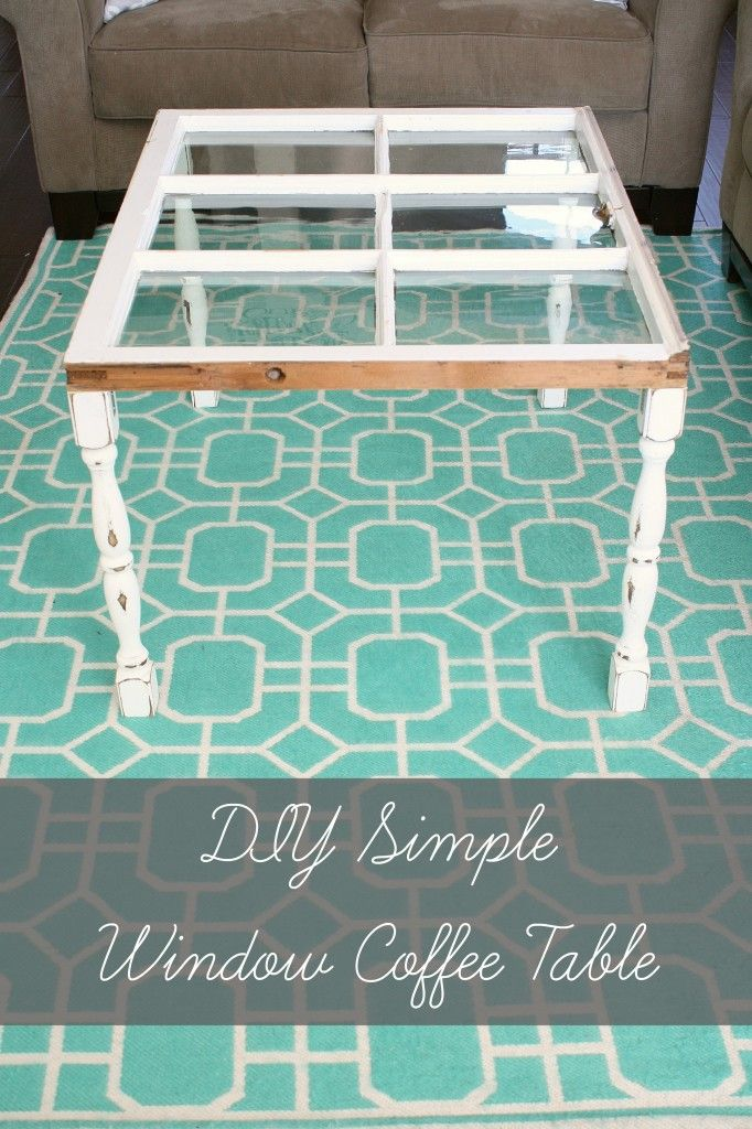 DIY Simple Window Coffee Table  www.adiamondinthestuff.com