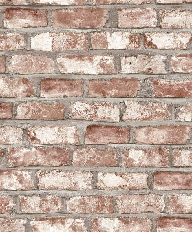 Bakstenen vliesbehang van Dutch Wallcoverings uit de collectie Exposed Warehouse. Kleur: beige.  Hoge kwaliteit behang met stoere en trendy patronen. Nu voor 32.95 per rol.  Artikelnummer: EW3102