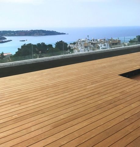Beautiful Ibiza villa employs invisible terrace decking system by Exterpark using Kebony wood