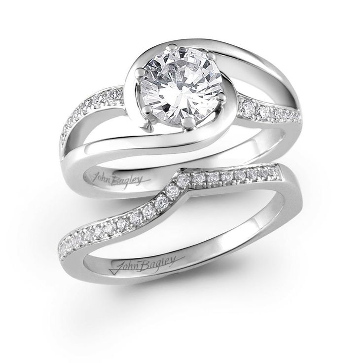 46 best images about swirl bridal sets on pinterest With swirl diamond wedding ring set