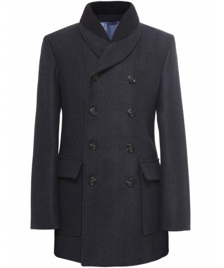Navy Double Collar Peacoat - Vivienne Westwood