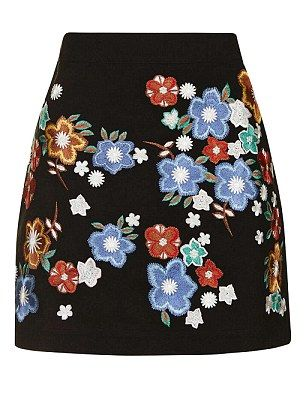 A-line mini skirt, £39, topshop.com