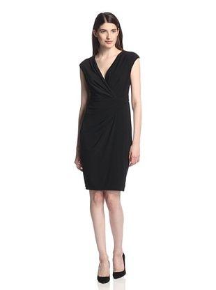 50% OFF Chetta B Women's Drape Side V-Neck Dress (Black)