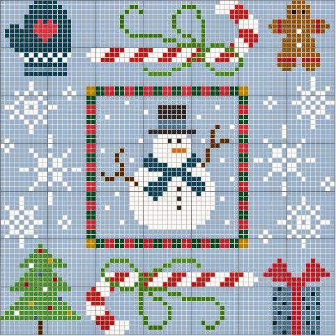 Natale a punto croce in stile Country | Punto croce - Schemi e Ricami gratuiti